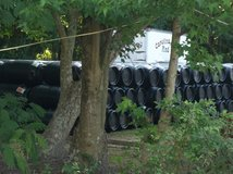 black food grade barrels in Camp Lejeune, North Carolina
