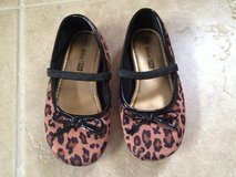 EUC Size 9 Leopard Ballet Sateen Shoes in Chicago, Illinois