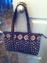 Vera Bradley Black Floral Purse in Fort Campbell, Kentucky