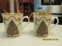 Lenox Vintage 2001 Fine Porcelain:  Delicate Pair Of Coffee/Tea Mugs in Kingwood, Texas